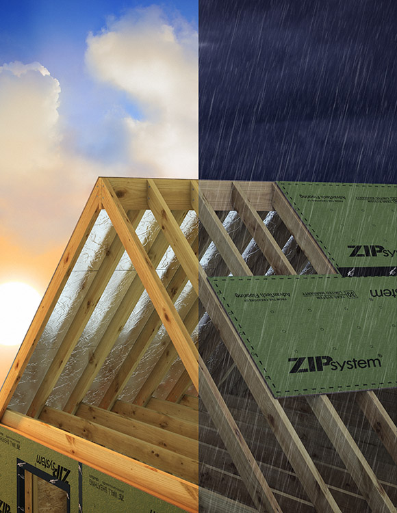 Advertising photographer Sean Busher of Charlotte, NC created this CGI photo with the help of Peter Godshall, our team's digital imaging specialist.  The picture was created for Huber Engineered Woods and features a cross-section showing the product in sun and rain.  The CGI photography is much easier to create than any single photo could ever hope for, which is why it's so beneficial to hire us!