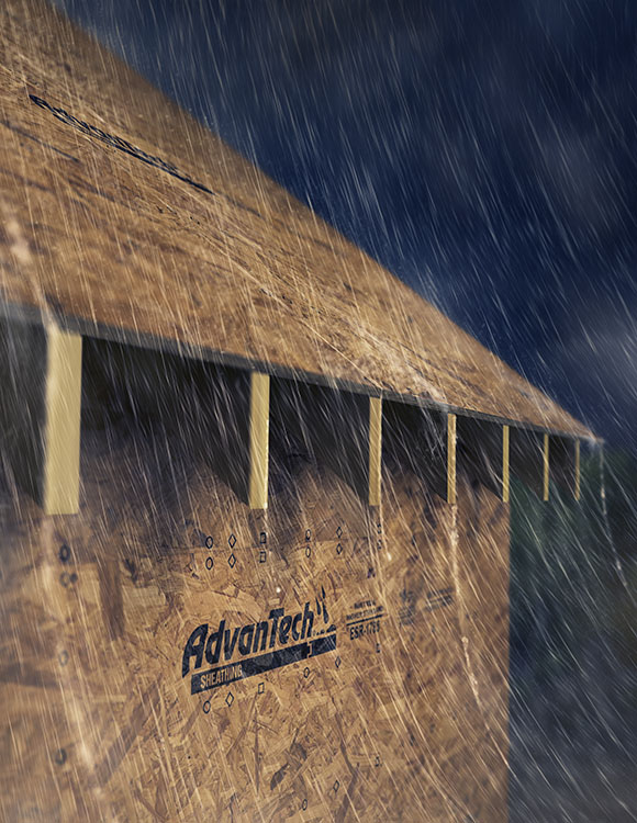 Huber Engineered Woods hired us to create this image of their sheathing product for an upcoming ad.